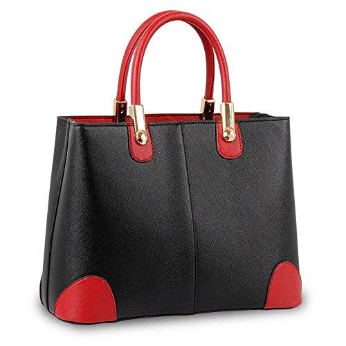 koson-man-mujer-vintage-sling-tote-bolsas-asa-superior-bolso-de-mano-negro-negro-kmukhb345