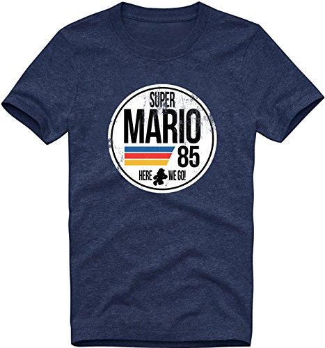 (EZYshirt Super Mario Herren T-Shirt Rundhals Premium Organic Cotton| Bio Baumwolle)