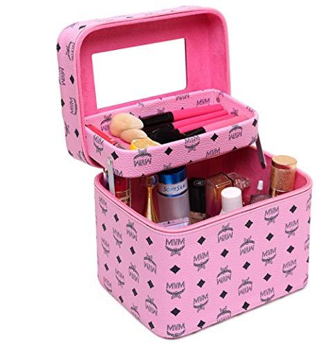 Professionelle Kosmetische Fälle (qwert1024 Kosmetiktasche große Kapazität doppelt Faltbare Aufbewahrungstasche tragbare professionelle kosmetische Fall große Multifunktions-Waschbeutel)