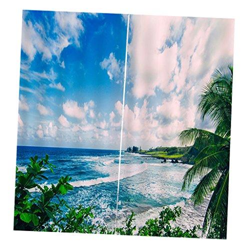 hang Schal Verdunkelungsvorhang Verdunklungsstoff BLICKDICHT - Himmel und Meer (Küche Vorhänge Meer)