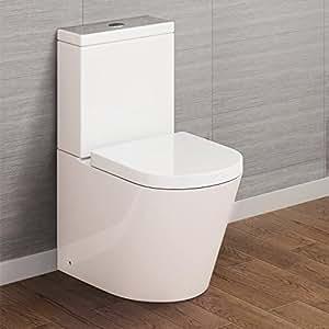 Luxury Bathroom White Gloss Close Coupled Toilet Cistern