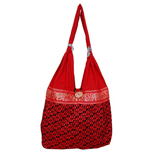 Womaniya Women's Canvas Red handbag(Size-32 Cm x 32 Cm x 10 Cm)  available at amazon for Rs.149