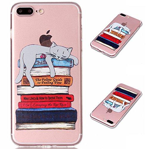 """Hülle für Apple iPhone 7 Plus , IJIA Transparente Donuts TPU Weich Silikon Stoßkasten Cover Handyhülle Schutzhülle Handytasche Schale Case Tasche für Apple iPhone 7 Plus (5.5"""") XY23"""