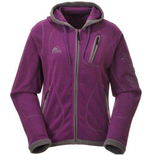COX SWAIN Damen FLEECE Outdoor Jacke Alice - 3 Farben - mit Kaputze, Colour: Berry, Size: