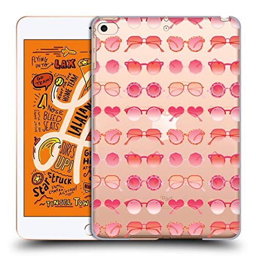 Head Case Designs Offizielle Cat Coquillette Rosa Sonnenbrille 2 Sommer Harte Rueckseiten Huelle kompatibel mit iPad Mini (2019)