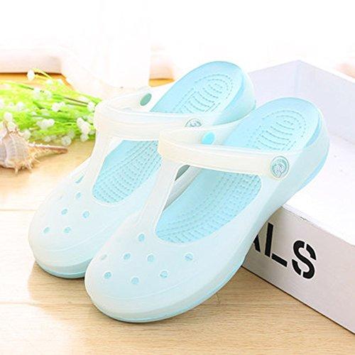 HAIZHEN Pantofole della casa Pantofole per la casa di estate Pantofole antisdrucciolevoli del bagno degli uomini e delle donne Pantofole di plastica spesse domestiche delle coppie domestiche Pattini d C