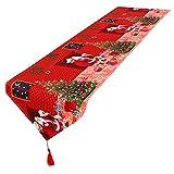 Demarkt Tischläufer Rot Weihnachtsmann Tischläufer Wandteppich Tischdecke
