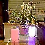 (870) LED Laterne mit Farbwechsel Einmachglas Tischleuchte Windlicht Gartenlicht