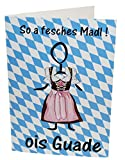 Bavarica Geburtstagskarte fesches Madl