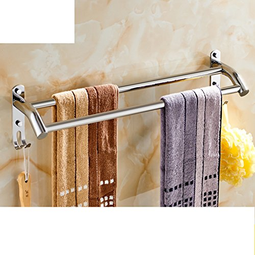 Portasciugamani in acciaio inox/ bagno asciugamano appeso/ bathroom wall e Sapone/ doppia cremagliera di tovagliolo-C