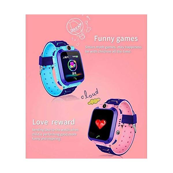 FOONEE Reloj GPS Tracker para niños, Reloj Inteligente Teléfono para niños de 3 a 12 años Niños pequeños Niños Niñas, 1… 6