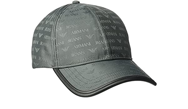 56812663 Armani Mens Allover Logo Baseball Cap in Grey - One Size: Armani ...