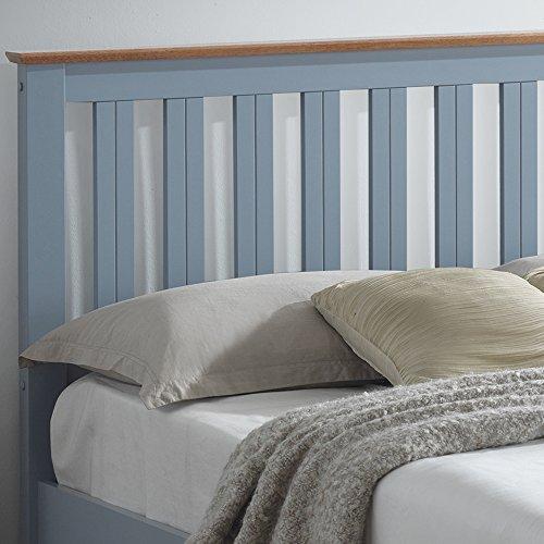 Happy Beds Phoenix Ottoman Storage Bed Stone Grey Finish Modern Wooden Memory Foam Mattress 4' Small Double 120 x 190 cm