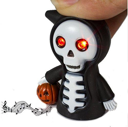 lett der Tod mit Kürbis Schlüsselanhänger Rote LED Augen und Sound Kürbis ()