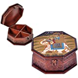 CarryWishiya Wooden Hand Painted Dhola Maru Jewellery Box