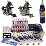 Profi Komplett Tattoomaschine Set 2 Tattoo Maschine Guns Tattoo maschine Set Kit