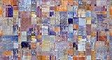 Decowood DCW05 Cabecero 'Pintura Abstracta', Pino, 105 x 80 x 3 cm