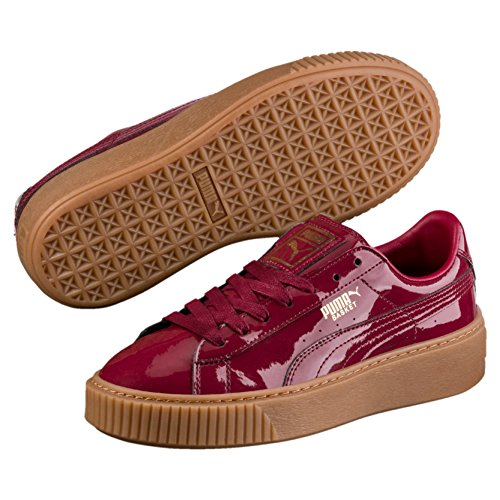 Puma Basket Platform Patent W Schuhe Tibetan red Patent Schuhe