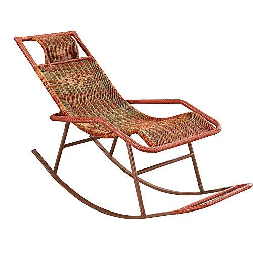 LBYMYB Schaukelstuhl Stock Stuhl Erwachsene Siesta Lounge Wohnzimmer Balkon Faul Stuhl Sessel Ältere Freizeit Schaukelstuhl Klappstuhl (Color : A)