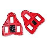 Set Pedalplatten rot mit Schrauben ROTO LOOK