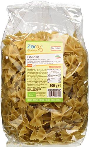 Zer% Glutine Farfalle di Riso Integrale - 3 pezzi da 500 g [1500 g]