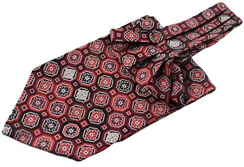 Yuany Herren geometrische Jacquard gewebte Seide Self Cravat Krawatten Ascot Formal -