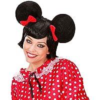 NET TOYS Parrucca con orecchie Minnie parrucca nera da topolina per signora  per Carnevale 222b42ca2dd3
