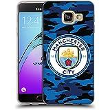 Officiel Manchester City Man City FC Lune Bleu foncé Badge Camou Étui Coque en Gel molle pour Samsung Galaxy A3 (2016)