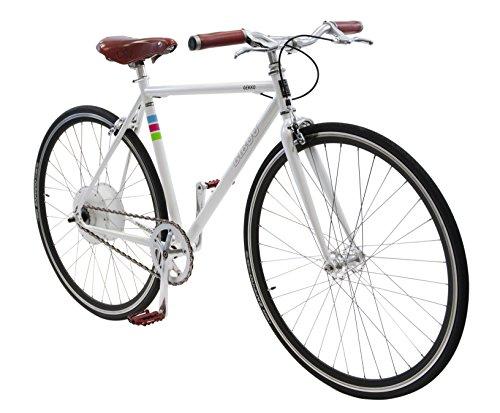 Bibóo Bikes Gekko Bicicleta Eléctrica, Unisex Adulto, Blanco, 52 (M-L)