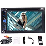 Eincar Double 2 Lärm-Auto-DVD-Player 6.2 Zoll HD 5-Punkte Touch Screen Auto-Stereo im Schlag-Auto-Video-Player DVD-CD-Player-Unterstützung USB / FM / MP5 / TF / Aux Input / SWC / Bluetooth / Cam-In + Rearview-Kamera