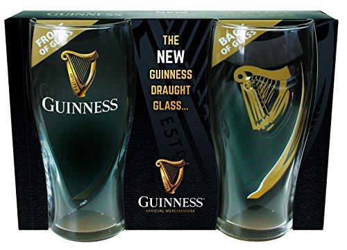 McLaughlin's Irish Shop 2019 Guinness Bierglas Set mit Griffmulde mit Geschenkverpackung