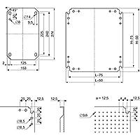 Schneider NSYMF64 Mikroperf. Montageplatte H600xB400m. Öffng. Durchm. 3, 6mm auf 12, 5mm Abstand