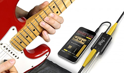 IK Multimedia iRig 2 Interfaccia per chitarra per iPhone, iPad, Mac, Nero