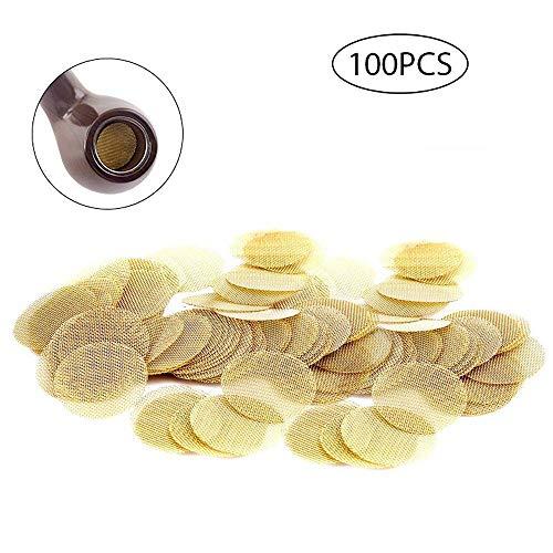 FOONEE Messingrohrsieb, 100 Stück 3/4 Zoll Mesh-Rohrfilter Mini Kupferrohrsieb -