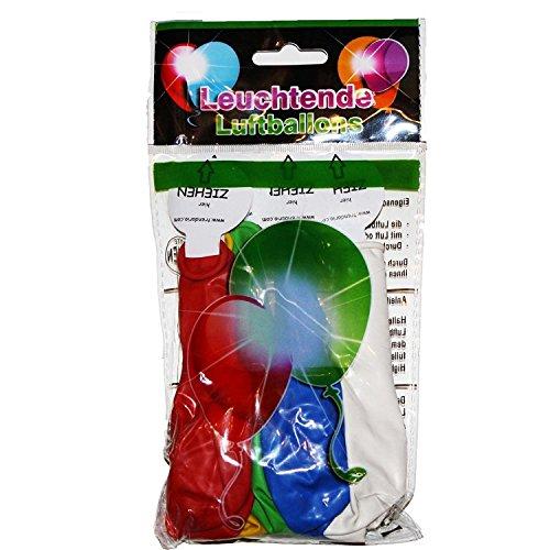 chtende Luftballons - schöne Ballons für die Party, Geburtstag, Hochzeit, Festival inklusive Batterien (Helium-ballone Mit Led-lichtern)