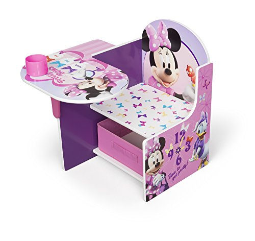 Image of Disney Minnie Mouse Chair Desk with Storage Draw