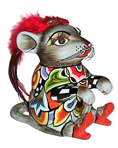 Toms Drag - Company - Artist Collection - Mouse - Maus Ginger - ca. 12x13 cm Ideal als Geschenk und Deko - Ginger Tom