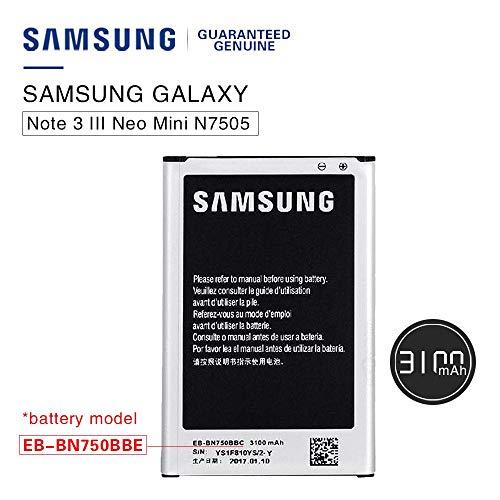 Samsung Batteria originale EB-BN750BBE Galaxy Note 3Neo N7505/