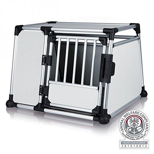 hundeinfo24.de Alu-Hundetransportbox – Einzelbox Favorite – Größe 4