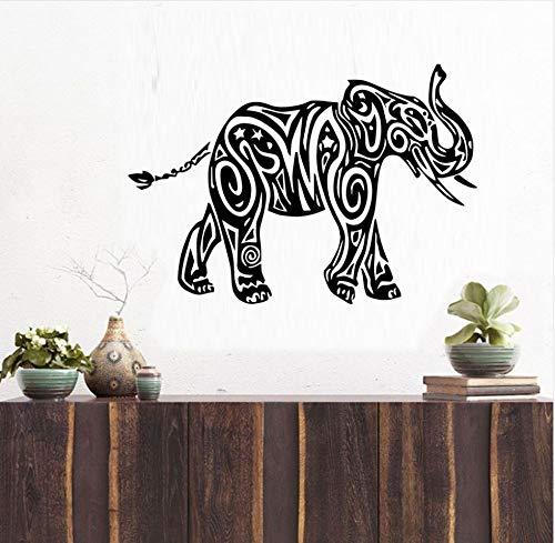 xlei Etiqueta De La Pared Animales Indios Elefante Pegatinas De Pared Decoración del Hogar Vinilo Arte Tatuajes De Pared Extraíble Impermeable para Sala De Estar