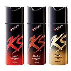 Kamasutra Deodorant For Men Spark + Storm + Woo 150ml