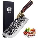 Couteau de Chef Couteau à Viande Professionnel Couteau Acier Inoxydable Boucher Tranchat Cuisine Full Tang, Boîte Cadeau Manc