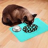 MEGIVEZ 2019Mangiare Lento Ciotola del Cane + Silicone Dog Pet Feeding Mat -47x 30cm Antiscivolo Pet Food Tappetino per Cane FDA Grade Antiaderente Cibo Pad Ciotole