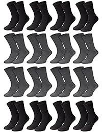 Herren Socken von Men's Fashion Lounge in schwarz, 16er, 24er oder 32er Pack in Baumwoll-Qualität mit Elasthan