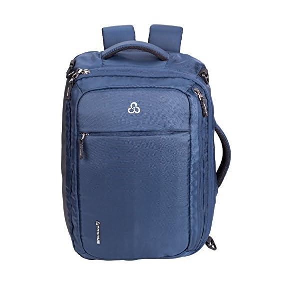 Cosmus Agility Blue Convertible Backpack Messenger Bag Shoulder Bag Laptop Case Handbag Business Briefcase Multi-Functional 3 in 1 Travel Bag Fits 15.6 Inch Laptop