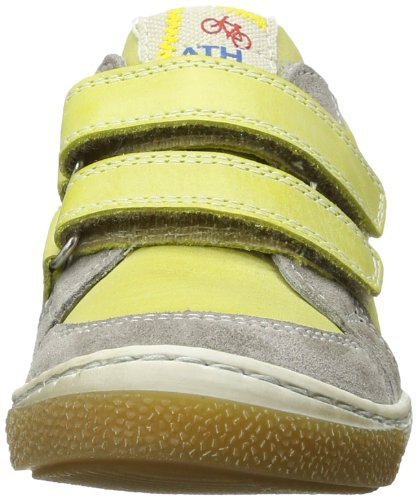 Froddo G3130032-1 girl's leather low tennis double strap Mädchen Sneaker Gelb (Yellow)