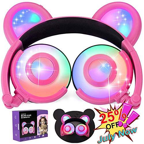 fhörer USB Aufladbar auf Ohr faltbar Spiel Headsets 85dB Lautstärkebegrenzung 3,5 mm Klinke Kopfhörer für Kinder Jungen Mädchen Tablets IPad Telefon PC Urlaub Geburtstagsgeschenke ()