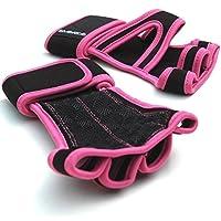 Emerge - Guanti di trazione per Crossfit,protezione solida delle mani, unici con polsini,manici comodi per (Rosa Piccolo Stock)