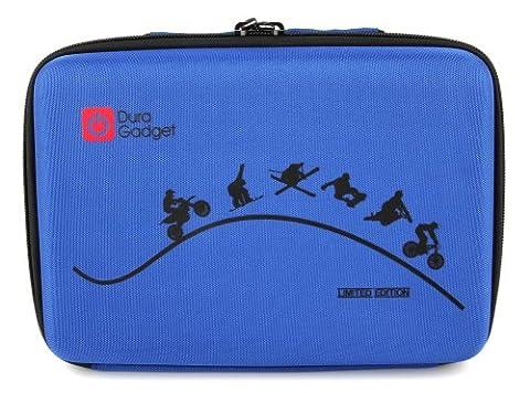 Für die GoPro Hero5 Black Action Kamera + Zubehör - Maßgefertigter Koffer inkl. Zubehör der Marke DuraGadget - Blau