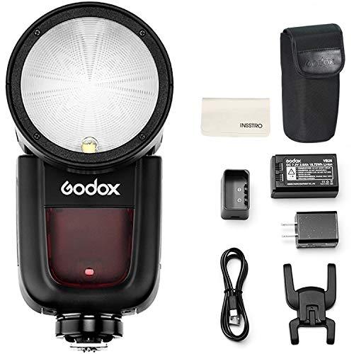 Godox V1-N Round Head Camera Flash Speedlite Flash for Nikon...